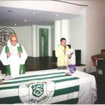 Tradicional missa de aniversário do clube. Márcio Guerra fazendo o cerimonial
